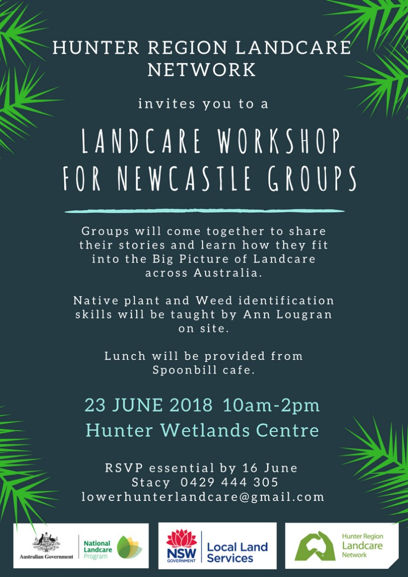Landcare Workshop for Newcastle Groups 23 June 2018 @ Hunter Wetlands Centre | Shortland | New South Wales | Australia
