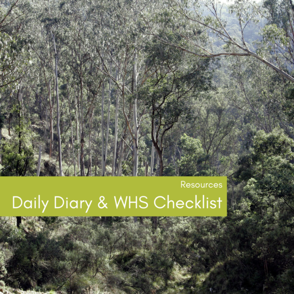 Daily Dairy & WHS Checklist for Landcare Groups