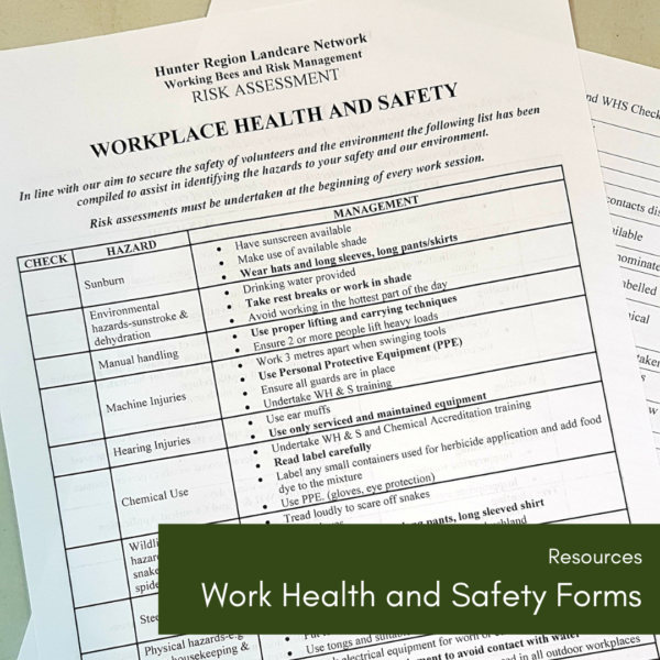 Work Health and Safety Forms
