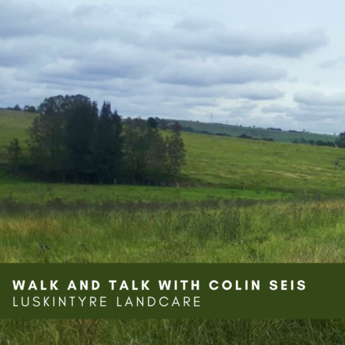 Walk and Talk with Colin Seis –  Luskintyre Landcare