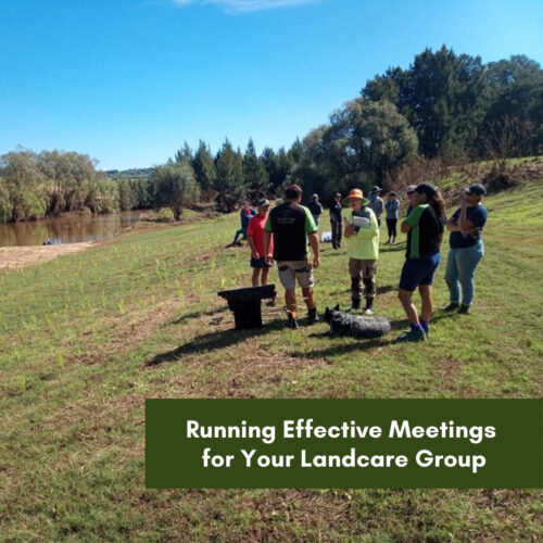 Running Effective Meetings for Your Landcare Group